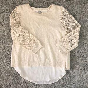 3/4 length cream sweater